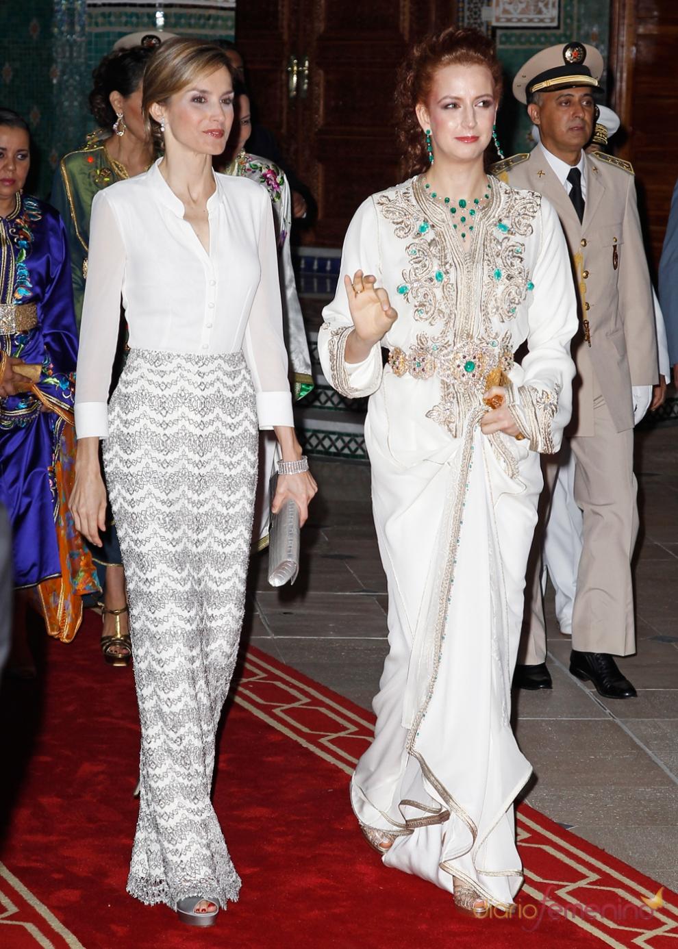Letizia, junto la princesa Lalla Salma en su primera visita a Marruecos como reina
