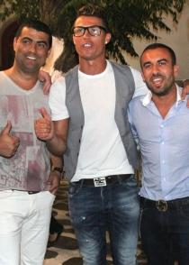 Cristiano Ronaldo eligió Mykonos para divertirse con los amigos