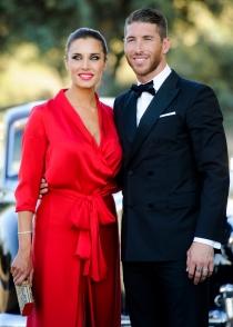 El look de Pilar Rubio y Sergio Ramos en la boda de René y Vania Millán