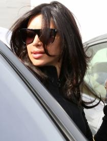 Kim Kardashian, con los labios recién operados
