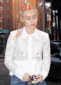 El peinado más colorido de Miley Cyrus