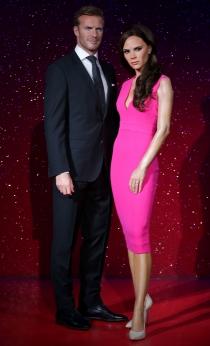 El matrimonio Beckham de cera, tan glamuroso como el original