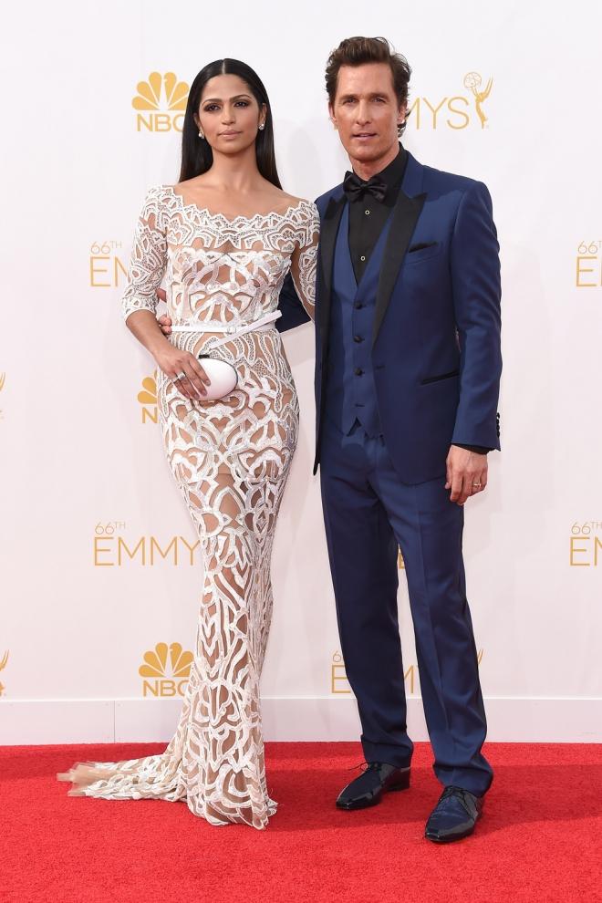 Matthew McConaughey y Camila Alves, en la alfombra roja de los Emmy 2014