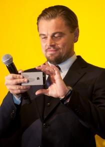 Leonardo DiCaprio, otra celebrity enamorada de los iPhone