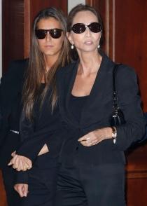 Isabel Preysler y Ana Boyer, en el funeral de Miguel Boyer