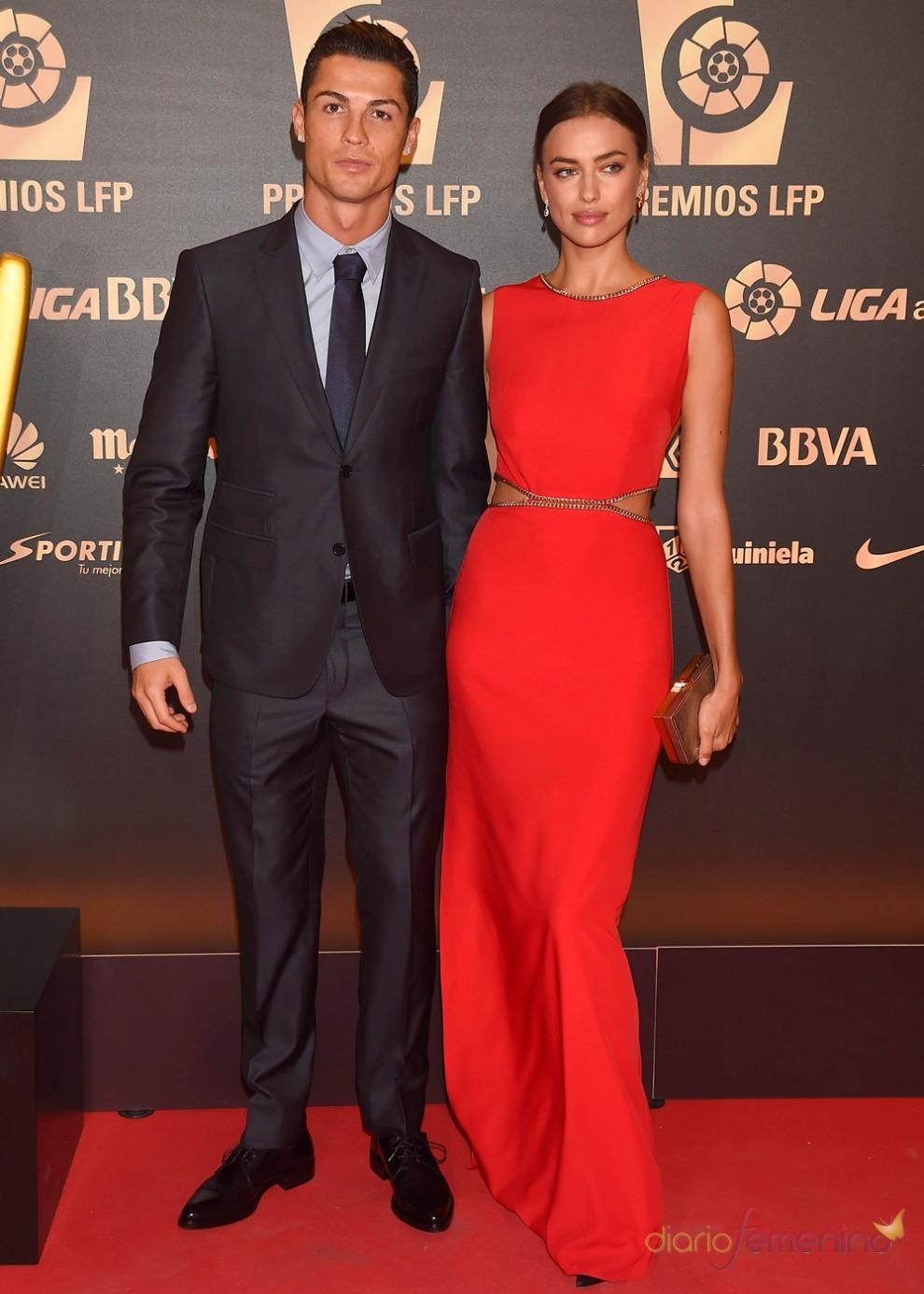 Cristiano Ronaldo e Irina Shayk, en los Premios de la LFP 2014