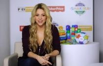 Shakira, imagen de los jugueres Fisher Price