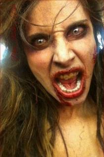 Pilar Rubio, irreconocible con su maqullaje de Halloween