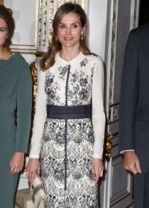 El look de la reina Letizia en su visita a Luxemburgo