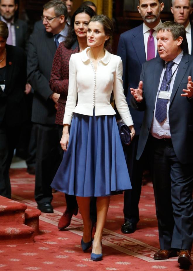 El look infantil de la reina Letizia