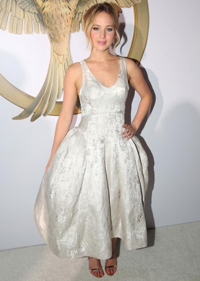 Jennifer Lawrence, espectacular en la presentación de Sinsajo