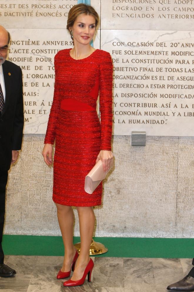 El espectacular vestido de Letizia en las Naciones Unidas