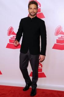 Pablo Alborán, en la alfombra roja de los Grammy Latinos 2014