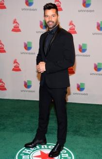 Ricky Martin, en la alfombra roja de los Latin Grammys 2014