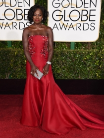 Globos de Oro 2015: Viola Davis, espectacular con un Donna Karan Atelier
