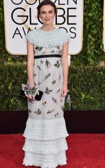 Keira Knightley no acertó con su vestido de mariposas