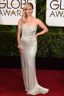 Reese Whiterspoon deslumbró con un Calvin Klein en los Globos de Oro 2015