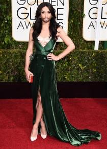 Conchita Wurst, de las peor vestidas de los Globos de Oro 2015