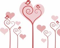 Tarjetas de San Valentín: El rosa y el rojo, los colores estrella