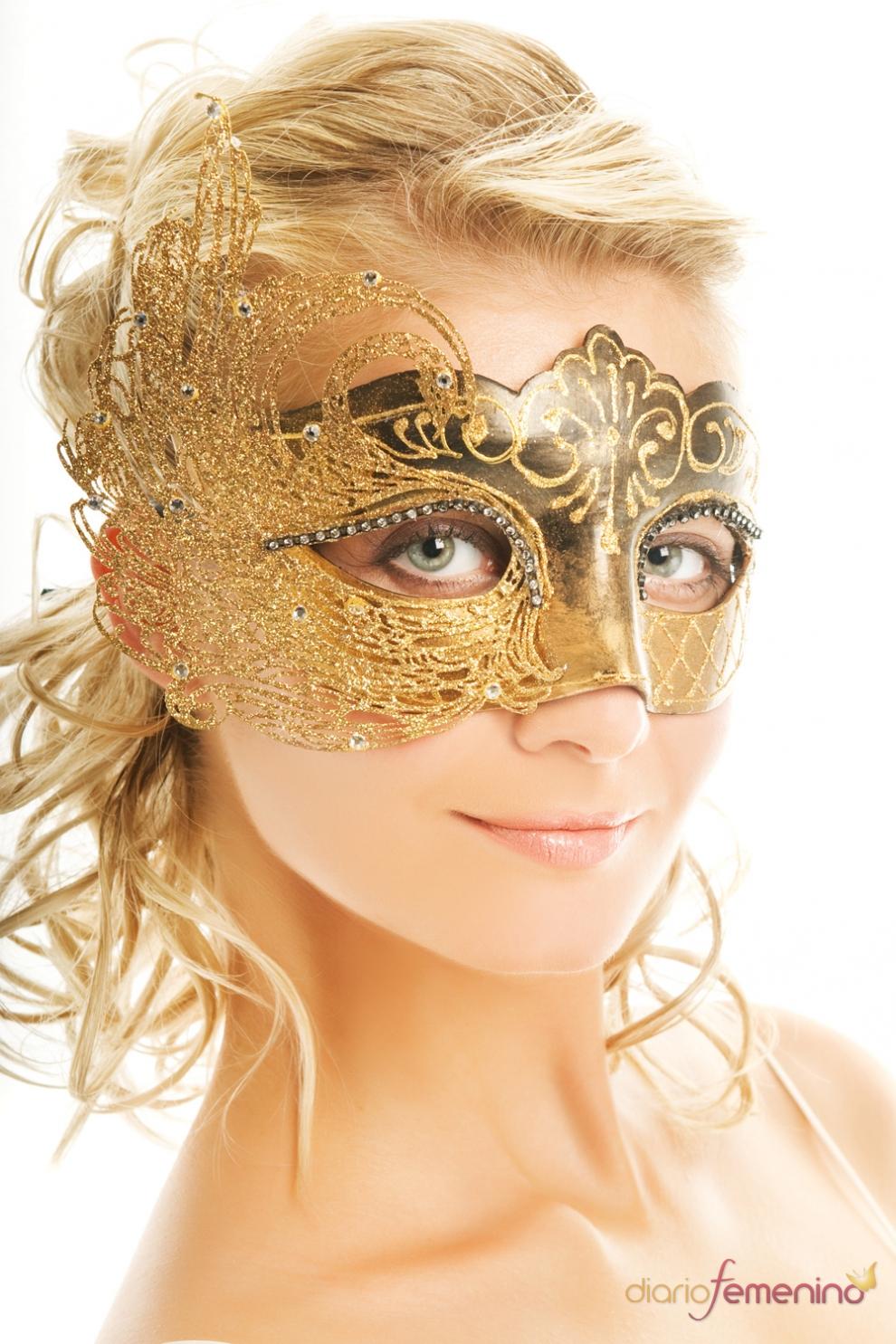 M scaras de carnaval en dorado la oportunidad para - Mascaras para carnaval ...