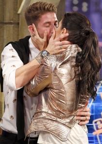 Pilar Rubio y Sergio Ramos, besos y mucho amor