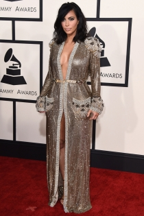 Grammys 2015: Kim Kardashian, vestida de Jean Paul Gaultier