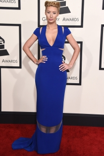 Grammys 2015: Armani Privé viste a Iggy Azalea