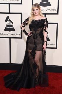 Megan Trainor, muy guapa en los Grammys 2015