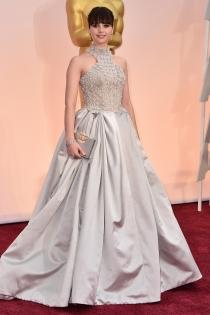 Oscars 2015: Felicity Jones, look princess