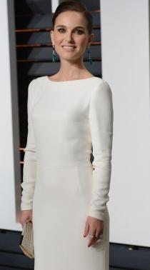 Oscars 2015: Natalie Portman, muy guapa de blanco