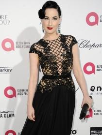 Oscars 2015: Dita von Teese, fiel a su estilo