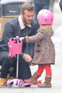 David Beckham, hijos famosos