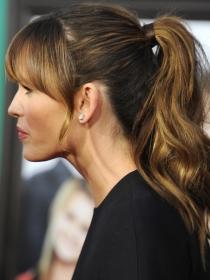 Jennifer Garner, el estilo del peinado con coleta