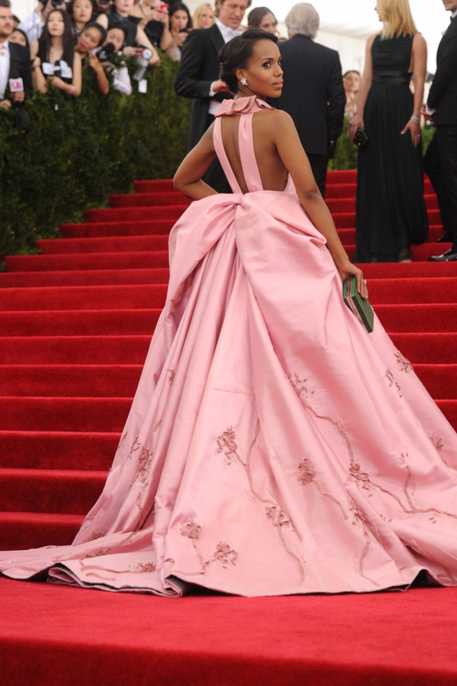 MET Gala 2015: Kerry Washington, oversize - Celebrities con vestidos ...
