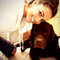 Perros de famosos: Choco, el perro de Lara Álvarez