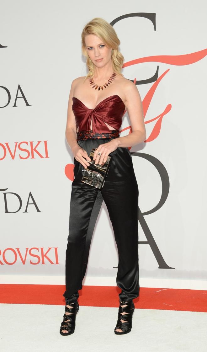 January Jones, protagonista de Mad Men, en los CFDA Awards 2015