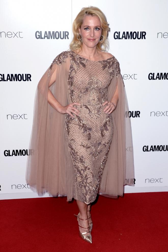 Premios Glamour: Gillian Anderson, muy original