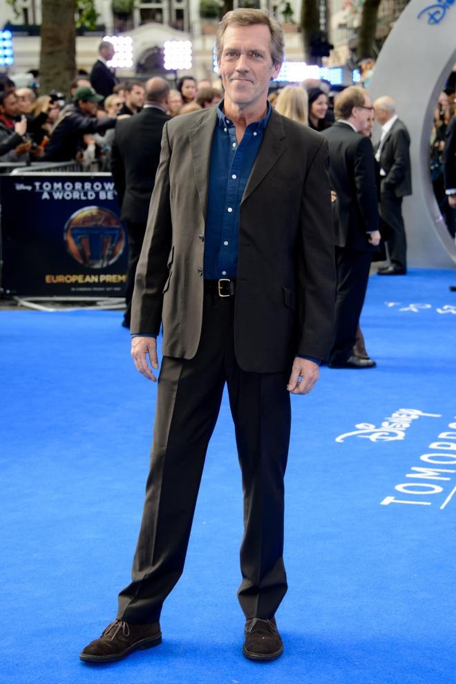Hugh Laurie, feliz y contento