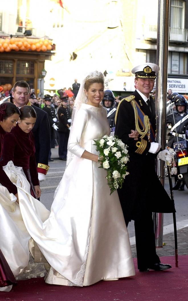 La reina Máxima de Holanda, el día de su boda