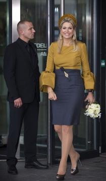 La Reina Máxima de Holanda, fan de las faldas de tubo