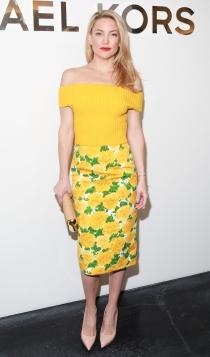 Faldas de tubo estampadas: el look más primaveral de Kate Hudson