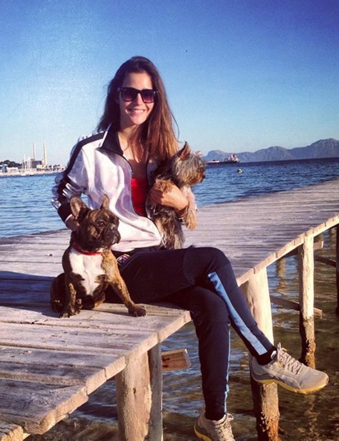 Malena Costa y su perro famoso Roco