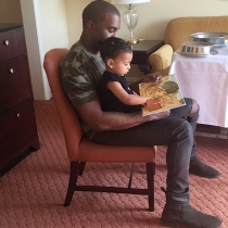 Kim Kardashian felicitó a Kanye West en el día del padre