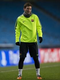 Messi, en uno de los entrenamientos del Barça