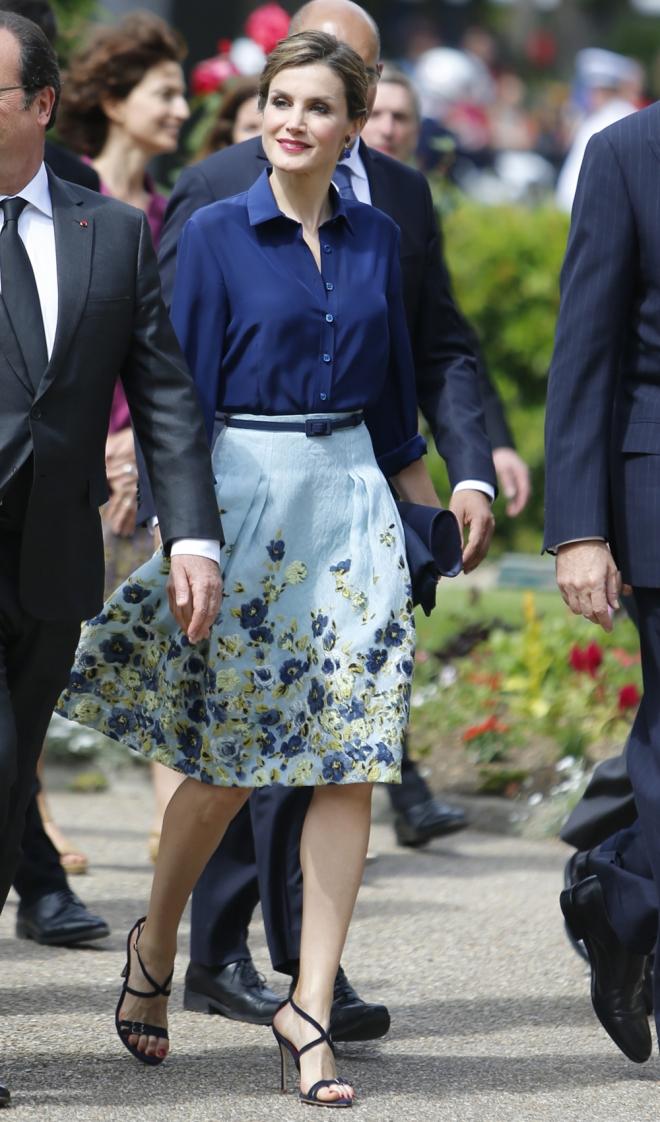 Faldas estampadas: el estilo de la reina Letizia