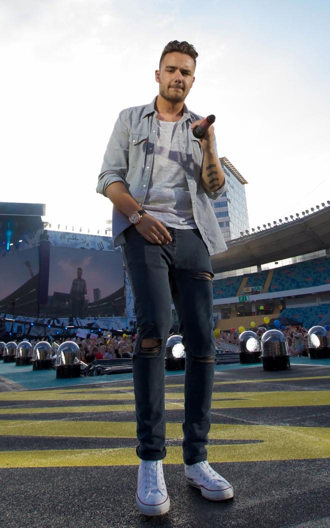 Liam Payne en los ensayos de One Direction