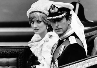 Lady Di y Carlos de Inglaterra en el día de su boda