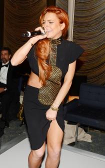 Lindsay Lohan dándolo todo en una fiesta
