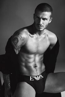 Famosos sexys: David Beckham para Emporio Armani