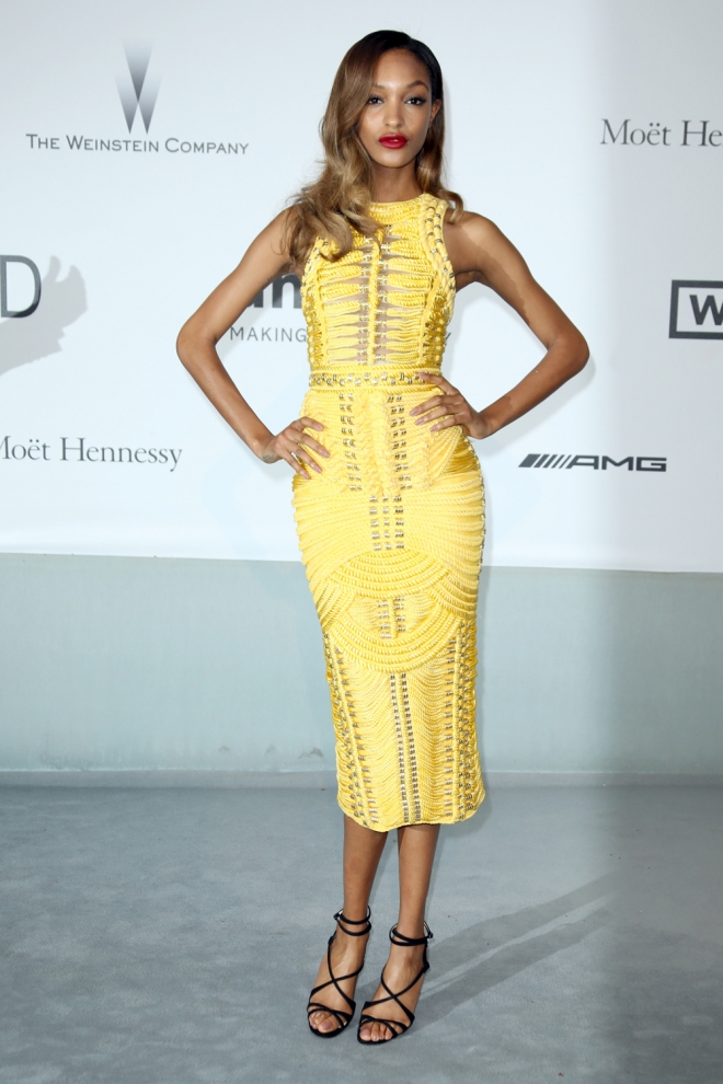 Jourdan Dunn, total yellow